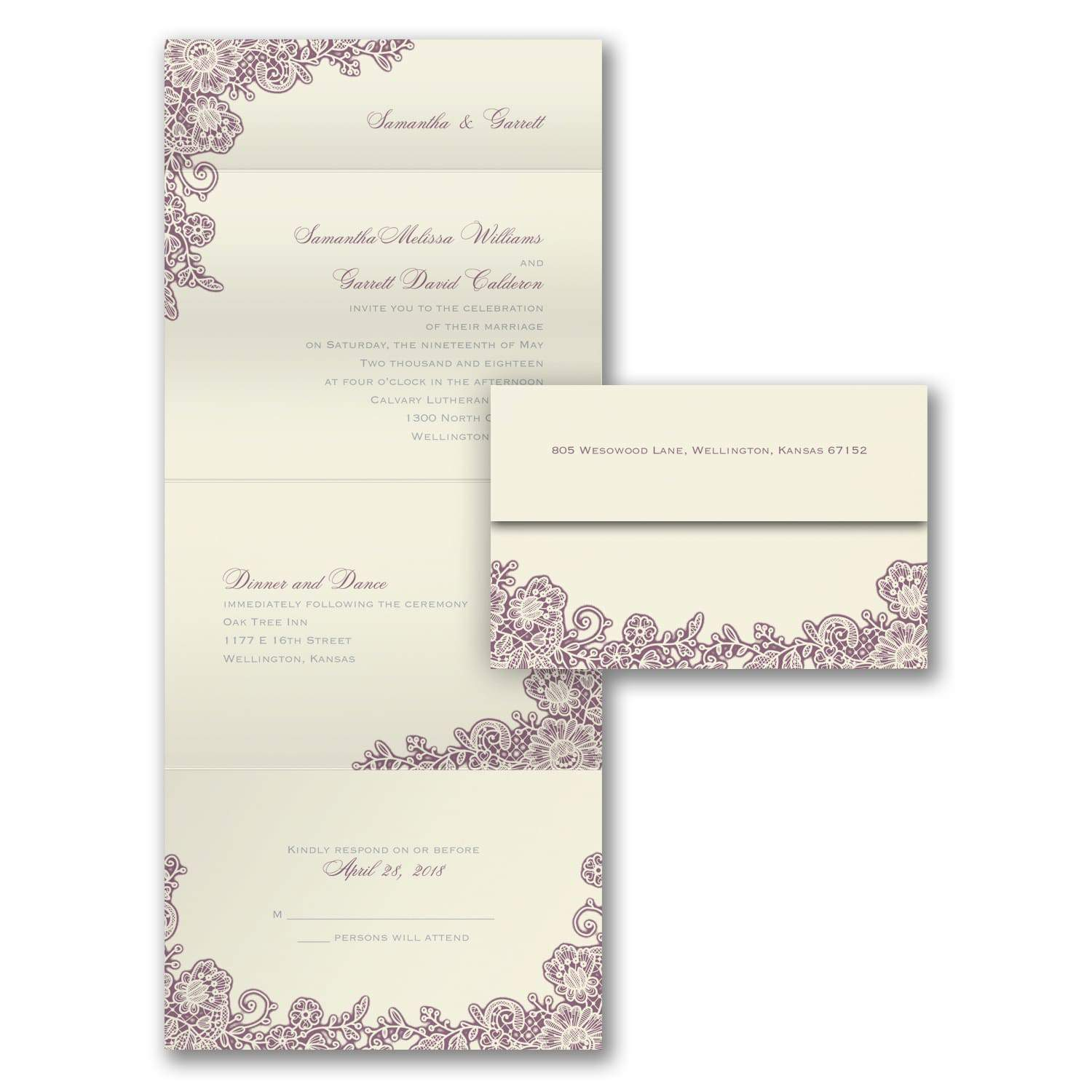 A Little Lace - Wedding Invitations