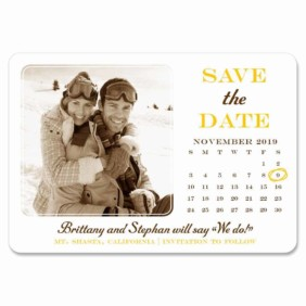 Calendar Couple 1 Save The Date Magnets