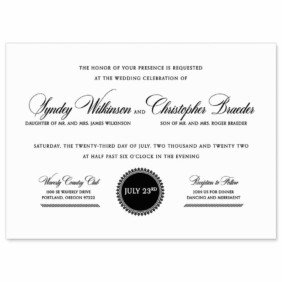Park Avenue Nb Wedding Invitation