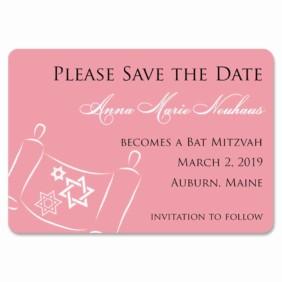 Torah Bat Mitzvah 1 Save The Date Magnets
