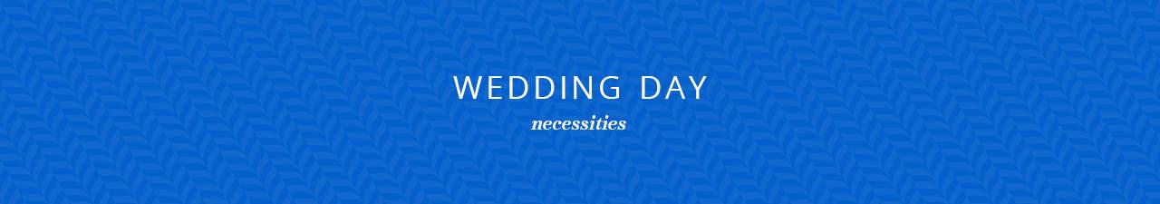 Wedding Day Necessities Shop Now