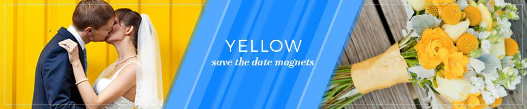 Yellow Save the Date Magnets Banner Image